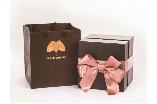 時尚咖啡金-雙層精裝喜餅