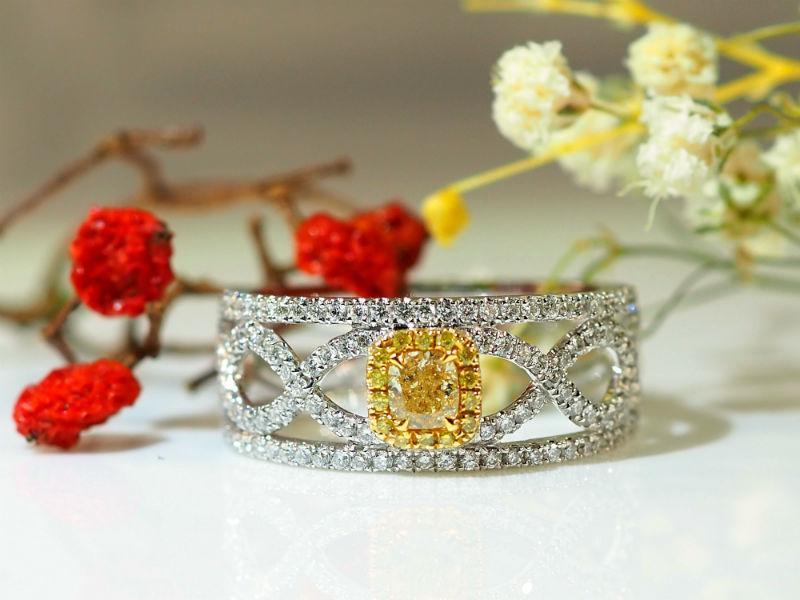 優雅公主款黃鑽戒指