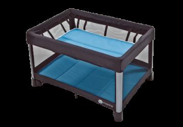 【4 moms】微風二合一摺疊遊戲床 2.0(藍)美規