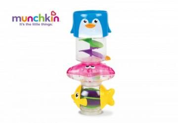 Munchkin水柱旋轉洗澡玩具