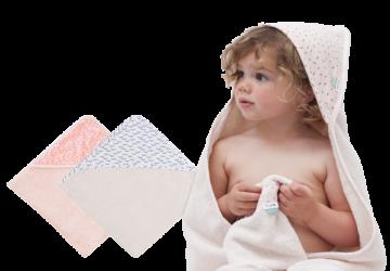 比利時Trixie有機棉連帽浴巾
