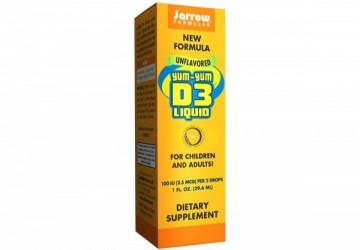 Jarrow賈羅公式 YUM-YUM非活性維生素D3滴液(29.6ml/瓶)