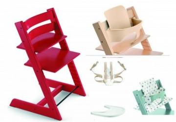 Tripp Trapp®成長椅 +嬰兒套件+安全帶+餐盤
