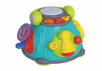 香港HOLA幼兒聲光玩具-15合1音樂太空艙