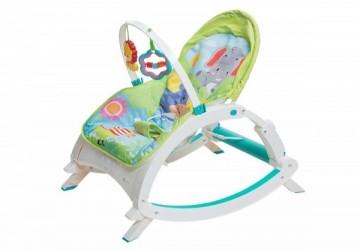 【L.A. Baby】攜帶式音樂震動安撫成長搖椅