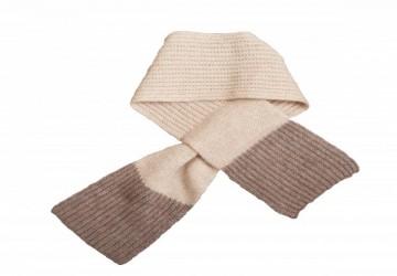 100%喀什米爾羊絨小童圍巾-駝色