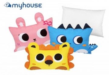 【MYHOUSE】韓國防蟎抗敏可愛動物夥伴雙面枕頭套+枕心組