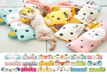 [LalaBaby嚴選]韓國Bonitabebe防螨抗菌-動物兒童寬枕