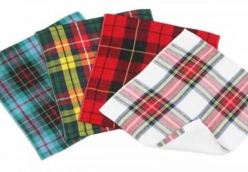伊織蘇格蘭紋棉紗方巾