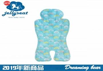 【韓國Jellyseat】微顆粒果凍涼珠 有機棉酷涼墊 人氣暢銷款/蔚藍的花海