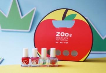 ZOO ㄖㄨˋ兒童無毒指甲油 - 亮片4瓶送禮組合 / 害羞小蘋果(限量10組)