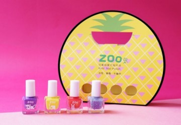 ZOO ㄖㄨˋ兒童無毒指甲油 - 亮片4瓶郊遊組合 / 熱情夏威夷 (限量10組)