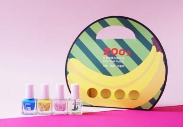 ZOO ㄖㄨˋ兒童無毒指甲油 - 亮片4瓶送禮組合 / 派對香蕉妹(限量10組)