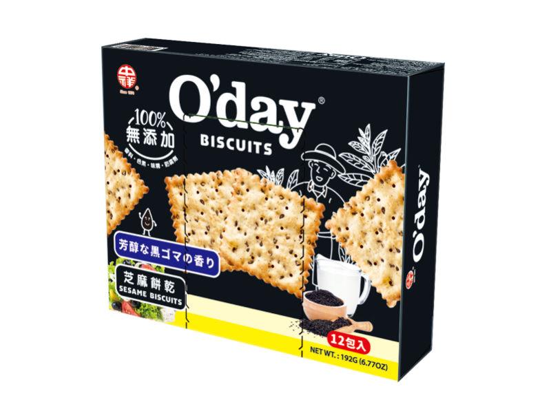 【中祥食品】O'day 芝麻餅乾(12入盒裝)