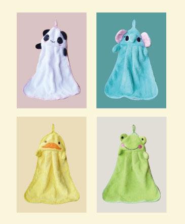 預約送日系可愛動物擦手巾