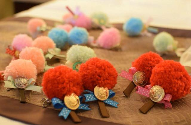 婚礼笔套   毛线编织动物造型笔套